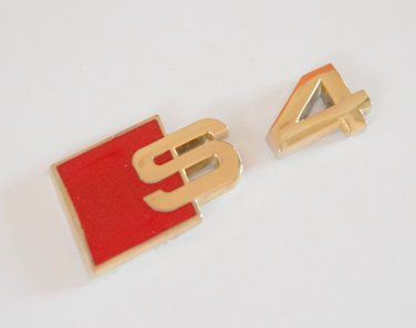 AUDI S4 24K Gold Plated Metal 3D Badge Emblem Sticker