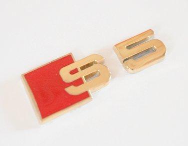 AUDI S5 24K Gold Plated Metal 3D Badge Emblem Sticker
