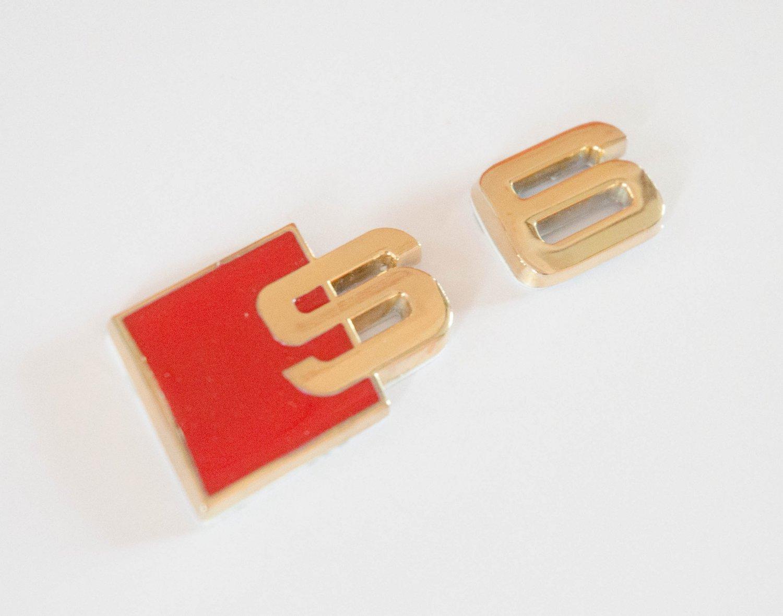 AUDI S6 24K Gold Plated Metal 3D Badge Emblem Sticker