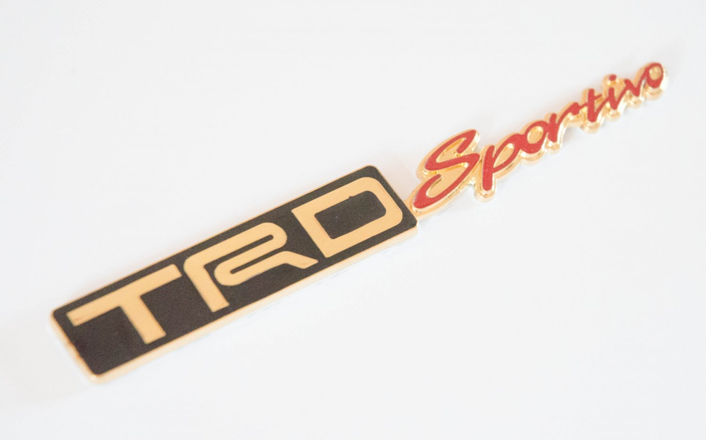 Toyota TRD Sportivo 24K Gold Plated Metal 3D Badge / Emblem Sticker