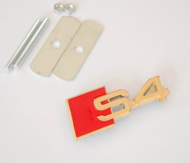 AUDI S4 24K Gold Plated Metal 3D Grill Badge Emblem