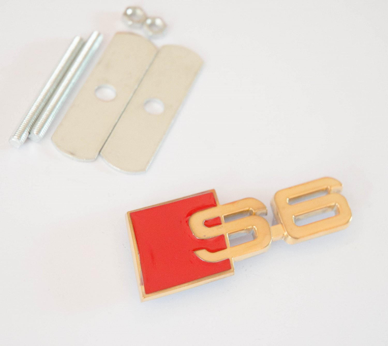 AUDI S6 24K Gold Plated Metal 3D Grill Badge Emblem