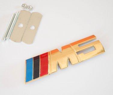 BMW ///M5 24K Gold Plated Metal 3D Grill Badge / Emblem