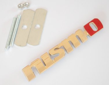 Nissan NISMO 24K Gold Plated Metal 3D Grill Badge / Emblem