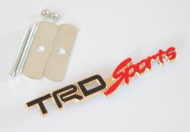 TRD Sports 24K Gold Plated Metal 3D Grill Badge Emblem