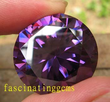 100.65CT HUGE EXCELLENT STUNNING ROUND DEEP PURPLE ZIRCON