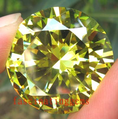 200.75CT BIG ELEGANT STUNNING ROUND GREEN ZIRCON