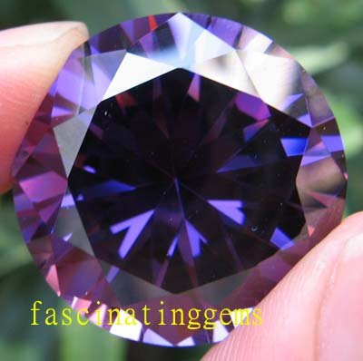 200.35CT HUGE EXCELLENT STUNNING ROUND DEEP PURPLE ZIRCON