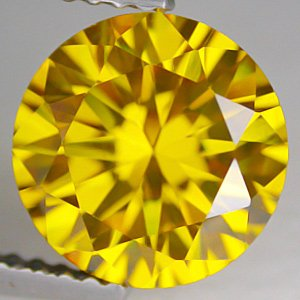 21.65CT BEAUTIFUL GLISTENING ROUND YELLOW ZIRCON