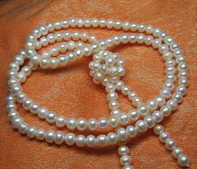 Beautiful Fresh water 8mm white pearl Necklace,Great price!don't miss!