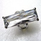 ZIRCON(30X11) RING SIZE 8 & 10KT WHITE GOLD PLATED