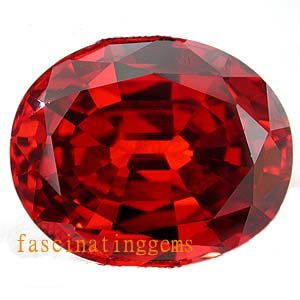 20.05CT CHARMING GLISTENING OVAL RED ZIRCON