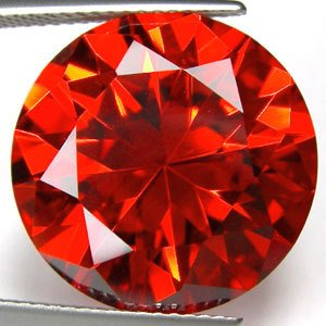 49.05CT BIG EXCELLENT STUNNING  RED ROUND ZIRCON