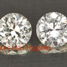 12.98CT PAIR BEAUTIFUL CHARMING WHITE ROUND ZIRCON