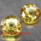 13.25CT PAIR STUNNING YELLOW ROUND ZIRCON