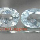12.98CT PAIR BEAUTIFUL CHARMING BLUE OVAL ZIRCON