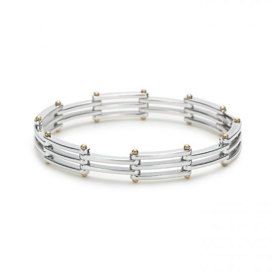 Unique 0.925 sterling silver bracelet bangle