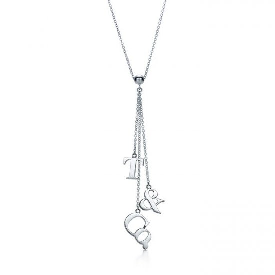 0.925 sterling silver and LOGO necklace and pendant