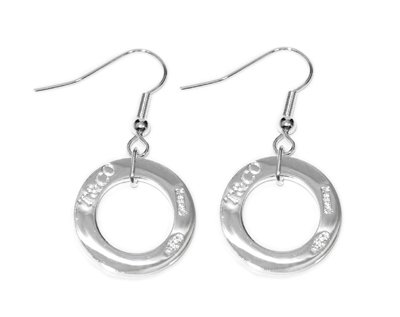 Amazing Sterling new style 1837 circle square earrings