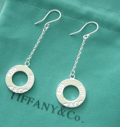 Amazing Sterling new style 1837 circle square dangling earrings