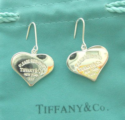 Amazing Sterling new style big heart dangling earrings
