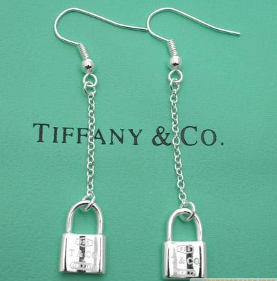 Amazing Sterling new style long chain lock dangling earrings