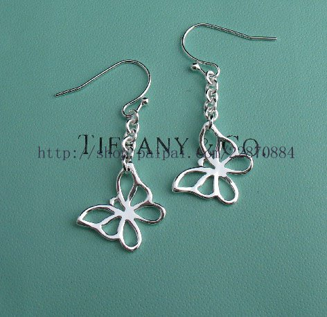 Amazing Sterling new style butterfly dangling earrings