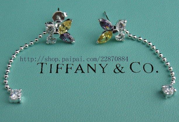 Amazing Sterling new style gemmy butterfly dangling earrings
