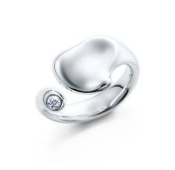 Beautiful Sterling new style coloured Angell ring