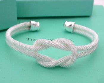 Beautiful Sterling new style tie a knot bracelet bangle