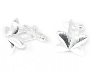 Beautiful Sterling silver cuff button jewelry