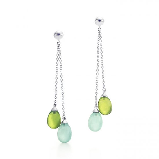 Beautiful 925 Sterling silver multi-colour beads earrings,new arrival!