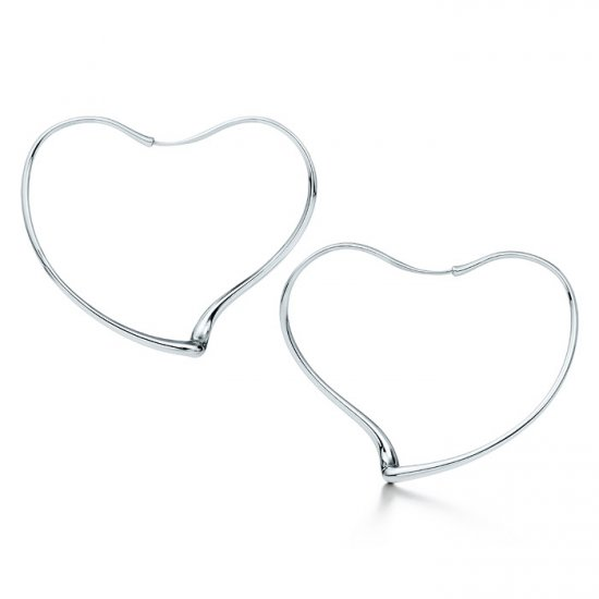 Unique sterling silver big heart  earrings,New arrival!