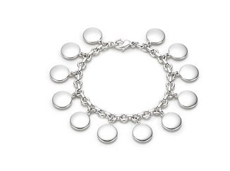 Beautiful 925 Sterling silver round flake bracelet,new arrival!