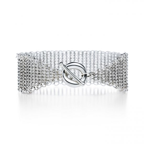 Beautiful 925 Sterling silver  meshy bracelet,new arrival!