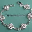Beautiful 925 Sterling silver  rose flower bracelet,new arrival!