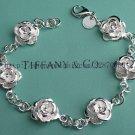 Beautiful 925 Sterling silver  rose flower bracelet,new arrival!