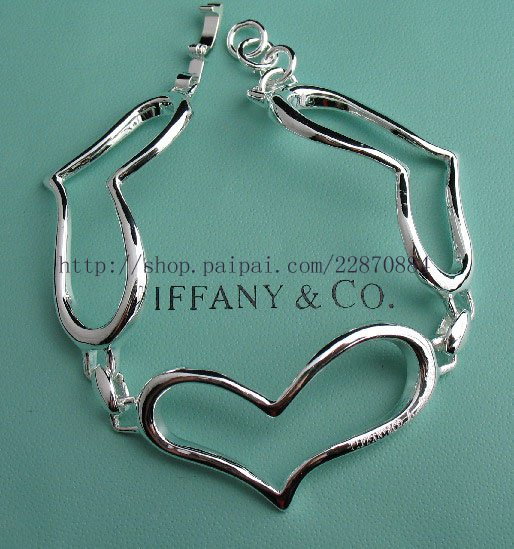 Beautiful 925 Sterling silver  heart bracelet,new arrival!