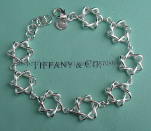 Beautiful 925 Sterling silver  five star bracelet,new arrival!