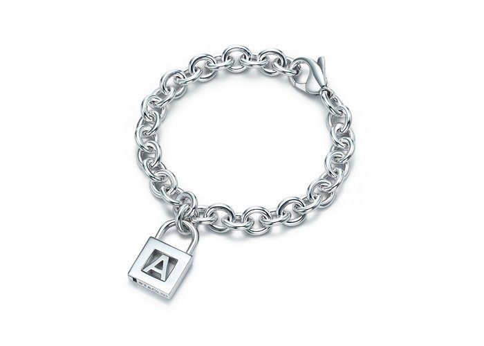 Beautiful 925 Sterling silver  and Letter  lock bracelet,new arrival!
