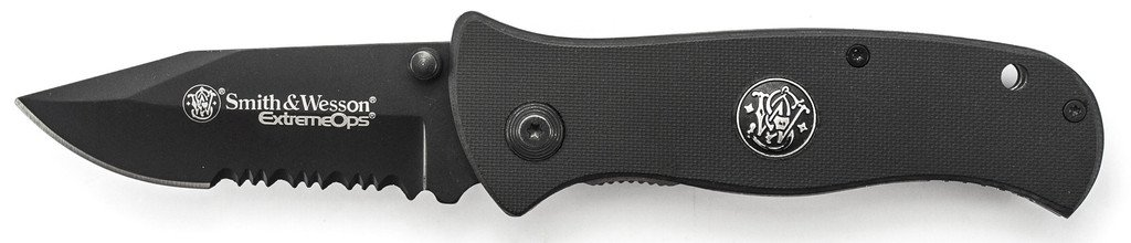 Smith and Wesson Extreme Ops Liner Lock Folding Knife SWCKG101BS