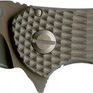 Schrade Knives: Frame Lock Folding Knife Drop Point Re-Curve SCH601TI