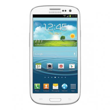 Samsung Galaxy S3 S III 32GB Verizon Smartphone SCH-i535 Marble White 4G Mobile Android Cellphone