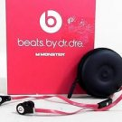 Beats By Dr Dre tour ControlTalk Monster Black In-Ear Headphones Red CHOP 2RCEz3