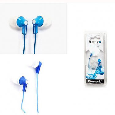 Panasonic RP-HJE120-A Inner Ear Earbud RPHJE120 Blue/GENUINE