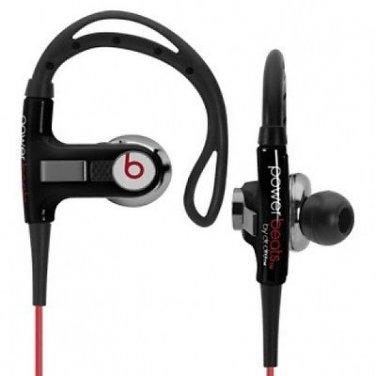 Authentic Beats by Dr. Dre PowerBeats Ear-Hook Headphones w/ Case - Black