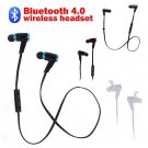 2014 Bluetooth 4.0 Wireless Sweat-proof Earbuds Headset In-Ear Headphone Black