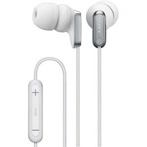 SONY MDREX38iP White Headphones w/ Control Keys for iPods, Mp3 players & Tablets earbuds earphones