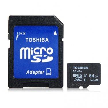 Toshiba 64 GB MicroSD Card UHS Class 10 SDXC High Speed Data Capacity Storage TF Flash Memory Card
