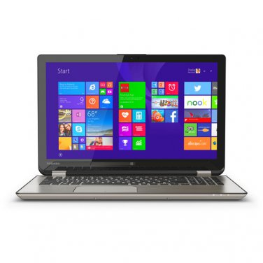 Toshiba Satellite Radius Touchscreen 2-in-1 Laptop PC - 8 GB RAM - 1 TB HDD P55W-B5224 Gold Computer